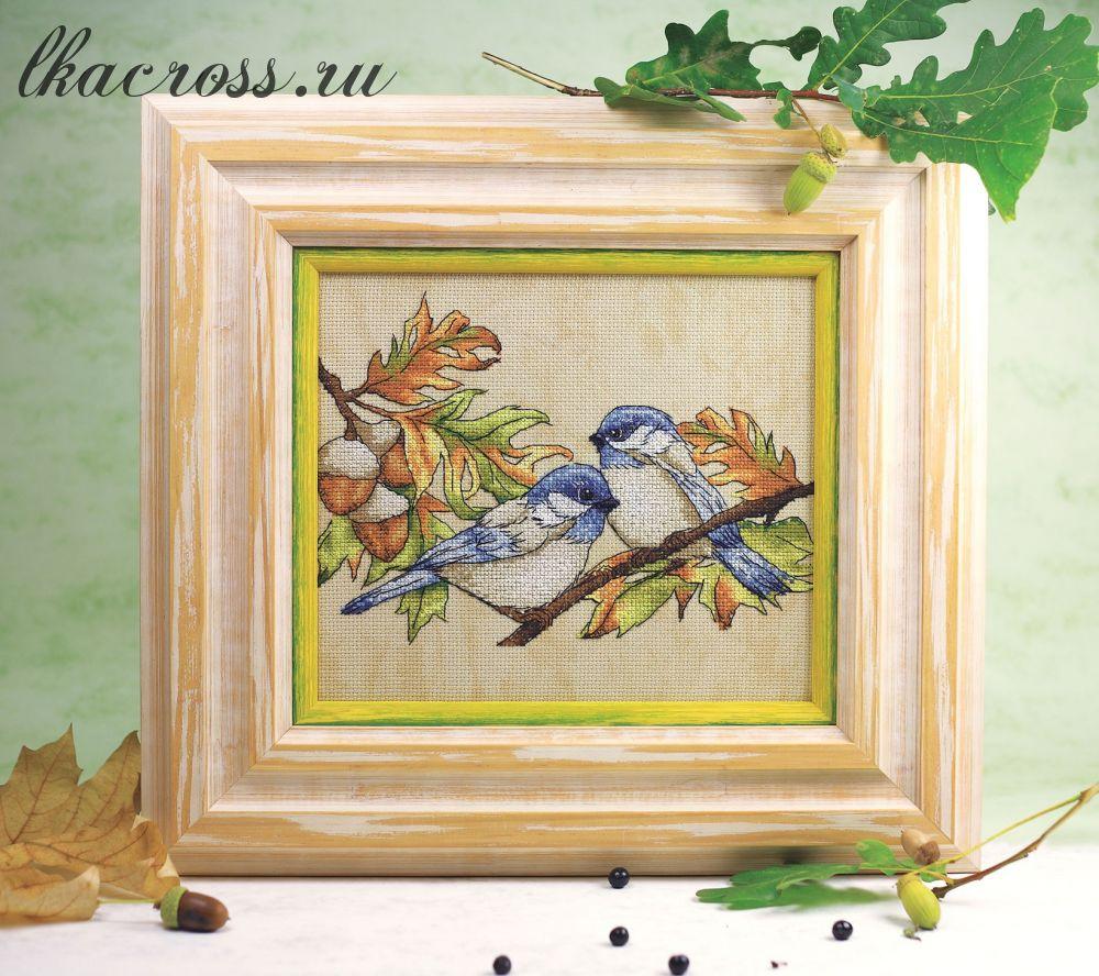 Схема для вышивки крестом Трудолюбивые птички